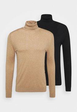 Topman - 2 PACK - Pullover - beige/black