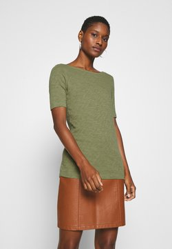 Marc O'Polo - SHORT SLEEVE BOAT NECK - T-Shirt basic - seaweed green