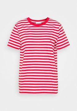 Calvin Klein - LOGO STRIPE - T-Shirt print - red glare/bright white