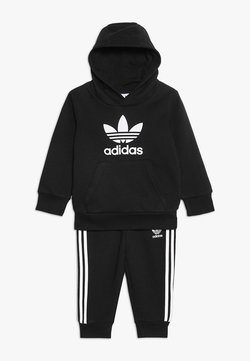 adidas Originals - TREFOIL HOODIE SET UNISEX - Survêtement - black/white