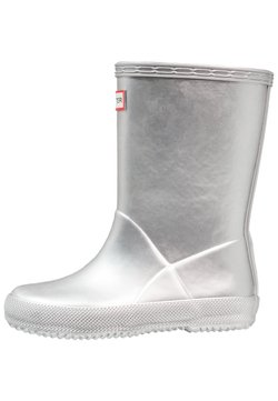 Hunter ORIGINAL - KIDS FIRST CLASSIC METAL - Gummistiefel - silver