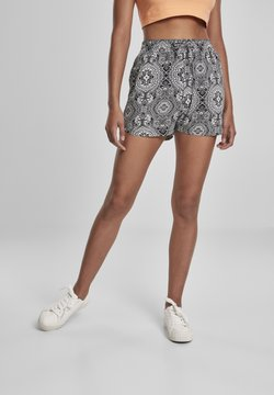 Urban Classics - VISCOSE RESORT SHORTS - Shorts - black