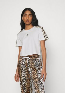 adidas Originals - CROPPED TEE - T-Shirt print - white