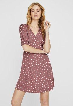 Vero Moda - KLEID WICKEL - Hverdagskjoler - rose brown
