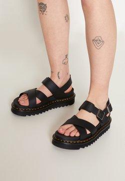 Dr. Martens - VOSS - Korkeakorkoiset sandaalit - black hydro