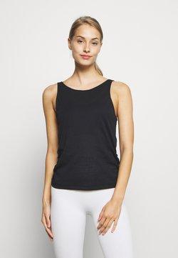 Nike Performance - YOGA RUCHE TANK - Camiseta de deporte - black