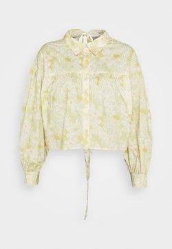 Glamorous - CROP WITH TI BACK DETAIL - Bluse - yellow