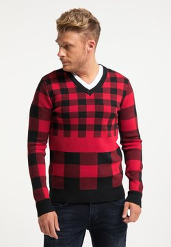 HOMEBASE - Stickad tröja - rot
