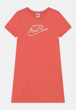 Nike Sportswear - FUTURA DRESS - Jerseykleid - magic ember/white