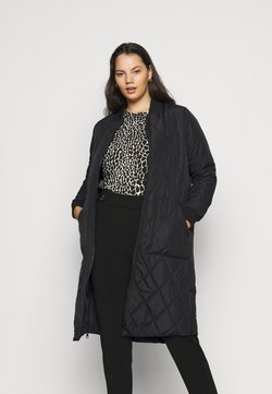 ONLY Carmakoma - CARCARROT LONG QUILTED JACKET - Abrigo - black