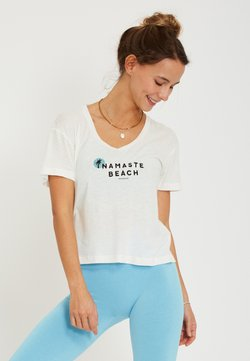 Yogasearcher - BEACH - T-Shirt print - white