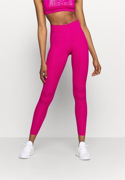 Nike Performance - ONE LUXE - Tights - fireberry/clear