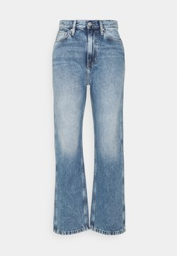 Calvin Klein Jeans - HIGH RISE STRAIGHT ANKLE - Jeans bootcut - denim light