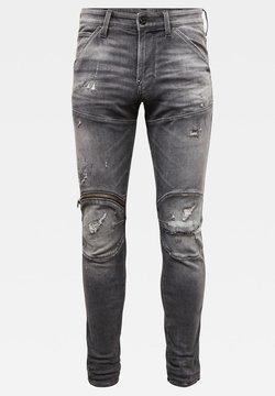 G-Star - 5620 3D ZIP KNEE SKINNY ORIGINALS VINTAGE RIPPED BASALT MEN - Jeans Skinny Fit - vintage ripped basalt