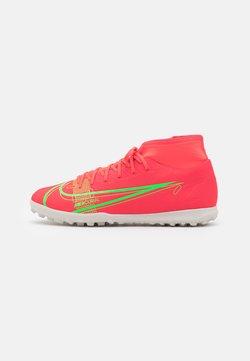 Nike Performance - MERCURIAL 8 CLUB TF - Astro turf trainers - bright crimson/metallic silver