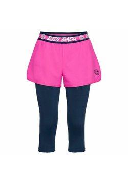 BIDI BADU - KARA TECH - kurze Sporthose - pink/dunkelblau