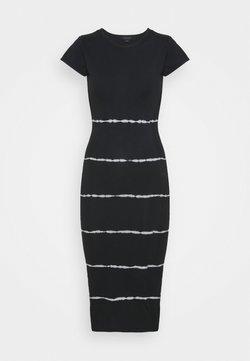 AllSaints - NIKO TYSTRIPE DRESS - Freizeitkleid - black