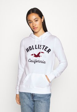 Hollister Co. - TERRY TECH CORE - Kapuzenpullover - white