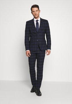 Ben Sherman Tailoring - CHECK SUIT - Anzug - dark blue