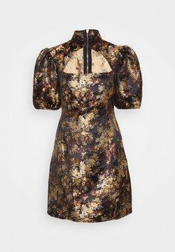 Missguided - PUFF SLEEVE CUT OUT NECK DRESS - Cocktailkleid/festliches Kleid - black