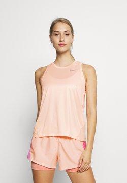 Nike Performance - MILER TANK - Camiseta de deporte - washed coral/reflective silver
