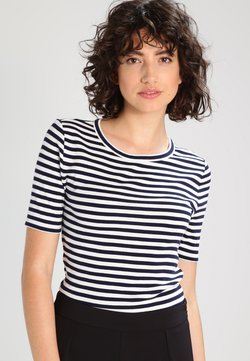 J.CREW - PERFECT FIT TEE  - T-Shirt print - navy/ivory