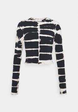 Weekday - SENA TIE DYE LONG SLEEVE - Langarmshirt - black/white