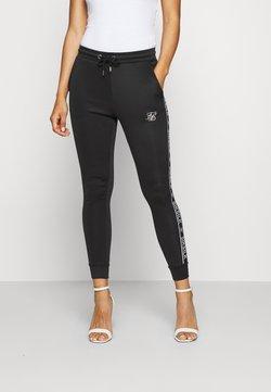SIKSILK - SIKSILK ARC TECH CROPPED TRACK PANTS - Spodnie treningowe - black