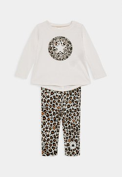 Converse - LEOPARD SET - Leggings - Hosen - off white/beige