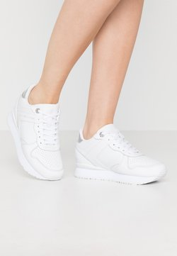 Tommy Hilfiger - DRESSY WEDGE  - Sneaker low - white