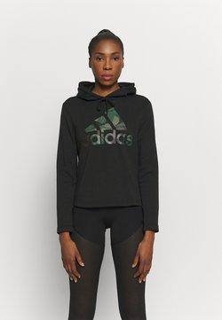 adidas Performance - CAMO - Bluza z kapturem - black