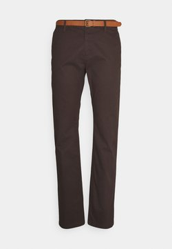 TOM TAILOR - PRINTED CHINO - Chinot - dark brown