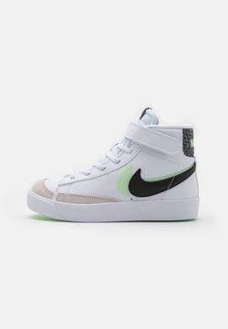 Nike Sportswear - BLAZER MID '77 SE UNISEX - High-top trainers - white/black/vapor green/smoke grey
