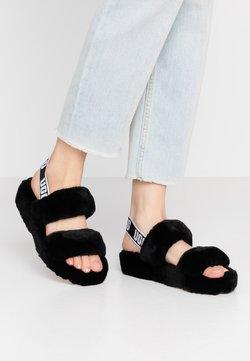 UGG - OH YEAH - Korkeakorkoiset sandaalit - black