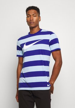 Nike Sportswear - STRIPE TEE - T-Shirt print - psychic blue/deep royal blue