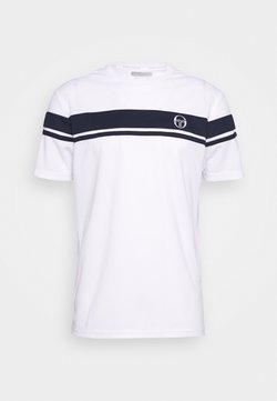 sergio tacchini - YOUNG LINE PRO T-SHIRT - T-Shirt print - white/navy