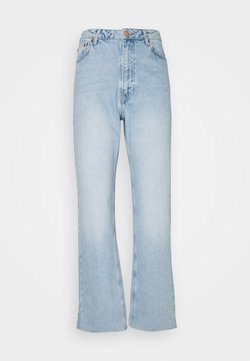 NA-KD - HIGH WAIST RAW - Straight leg -farkut - light blue