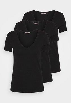 Anna Field - 3 PACK - T-Shirt basic - black