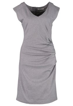 Kaffe - INDIA V-NECK DRESS - Vestido de tubo - grey melange