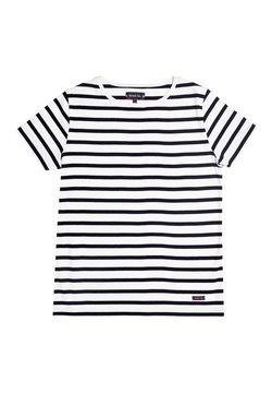 Armor lux - MORGAT MARINIÈRE - T-Shirt print - blanc/rich navy