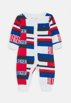 Tommy Hilfiger - BABY PRINTED COVERALL - Strampler - blue