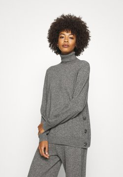 Culture - CUALLIE ROLLNECK - Strickpullover - grey melange