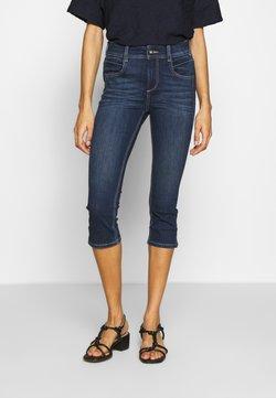 TOM TAILOR - KATE CAPRI - Jeans Shorts - dark stone wash denim