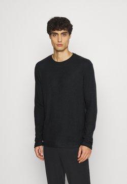 Pier One - RIBBED LOUNGE TOP - Nachtwäsche Shirt - black