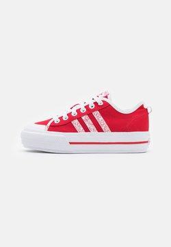 adidas Originals - NIZZA PLATFORM  - Sneaker low - scarlet/footwear white/core black