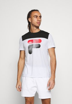 Fila - TIM  - T-shirt med print - white/black