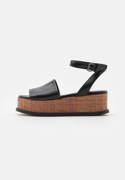 MJUS - SUNNY - Korkeakorkoiset sandaalit - nero