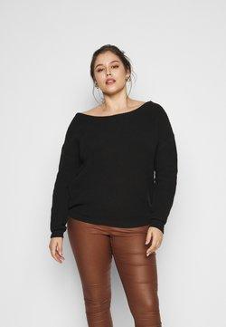 Missguided Plus - OFF THE SHOULDER JUMPER - Pullover - black