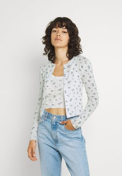 BDG Urban Outfitters - DITSY FLORAL TWIN SET - Strickjacke - white