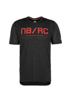 New Balance - NEW BALANCE PRINTED IMPACT LAUFSHIRT HERREN - T-Shirt print - shiny black